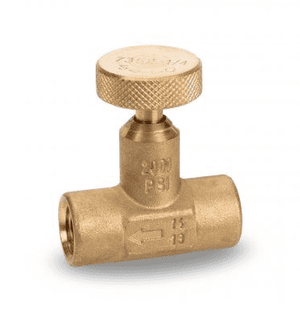 "SNI7352 RuB Inc. Needle Valve - Brass - 1/4"" Female NPT x 1/4"" Female NPT"