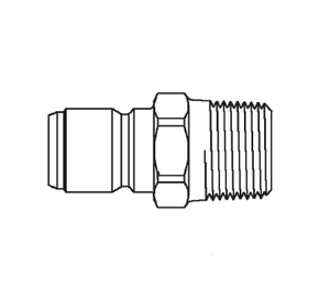 LL6T30 Eaton ST Series Male Plug - 3/4-14 Male NPTF End Connection Quick Disconnect Coupling - Buna-N Seal - 303 Stainless Steel