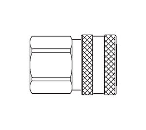 LL2S16BS Eaton ST Series Female Socket - 1/4-19 Female BSPP End Connection Quick Disconnect Coupling - Buna-N Seal - 303 Stainless Steel