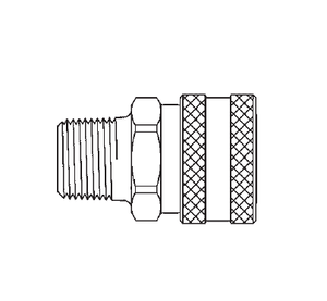 LL1S10 Eaton ST Series Female Socket - 1/8-27 Male NPTF End Connection Quick Disconnect Coupling - Buna-N Seal - 303 Stainless Steel