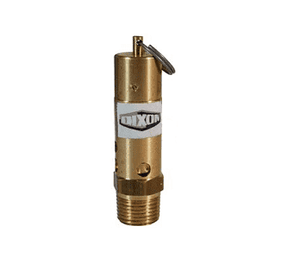 "SV175HD Dixon Brass Heavy Duty, High Capacity Pop-Off Safety Valve - 1/2"" Male NPT - 319 SCFM"