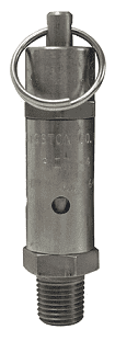 "SV100SS Dixon Stainless Steel Standard Safety Pop-Off Valve - 1/4"" Male NPT - 64 SCFM"