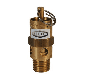 "SV100 Dixon Brass Standard Safety Pop-Off Valve - 1/4"" Male NPT - 64 SCFM"