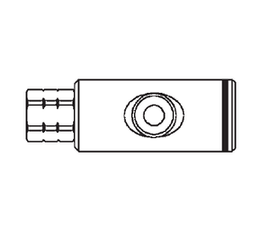 GD1052683 Eaton Safeline Series Female Socket - 3/8 Female NPT End Connection Pneumatic Quick Disconnect Coupling - Buna-N Seal - Aluminum