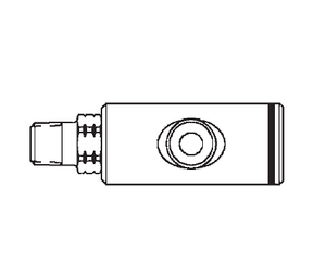 GD1053641 Eaton Safeline Series Female Socket - 1/4 Male NPT End Connection Pneumatic Quick Disconnect Coupling - Buna-N Seal - Aluminum