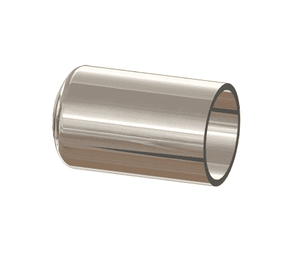 "T16W-075PL Dixon 3/4"" 316L Stainless Steel High Purity BioPharm Weld Cap with a PL finish - SF1"