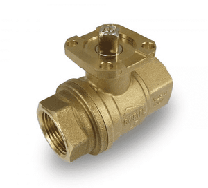 "T264F41 RuB Inc. PURI-T Series Drinking Water Ball Valve - Brass - 1"" Female NPT x 1"" Female NPT - with ISO 5211 Actuator Flange"