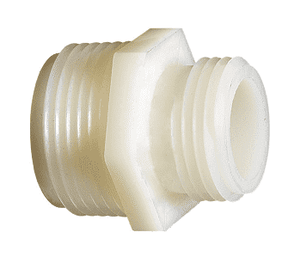 "TA772 Dixon Tuff-Lite Nylon Male GHT x 1/4"" Male NPT Adapter (Pack of 50)"