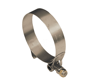 "TBC250 Dixon T-Bolt Clamp - Style TBC - 300 Series Stainless Steel - Hose OD Range: 2.344"" to 2.562"""