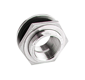 "TF150SS Banjo 316 Stainless Steel 1-1/2"" Bulkhead Tank Fitting - Hole Size: 3"""
