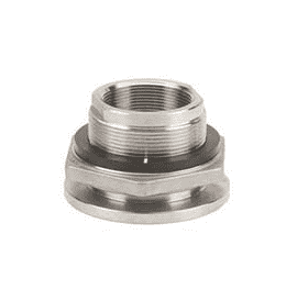 "TF200SS Banjo 316 Stainless Steel 2"" Bulkhead Tank Fitting - Hole Size: 3"""