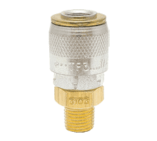 "SGTF3103 ZSi-Foster Quick Disconnect TF Series 1/4"" Automatic Socket - 1/4"" MPT - Brass w/Steel Valve w/Sleeve Guard"