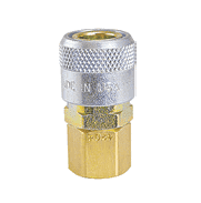 "TF4004 ZSi-Foster Quick Disconnect TF4 Series 3/8"" Automatic Socket - 1/4"" FPT - Brass/Steel"