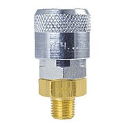 "TF4104 ZSi-Foster Quick Disconnect TF4 Series 3/8"" Automatic Socket - 1/4"" MPT - Brass/Steel"