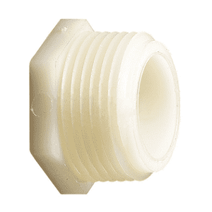 "TPX8 Dixon Tuff-Lite Nylon Hex Head Drain Plug - 1"" Male NPT (Pack of 50)"