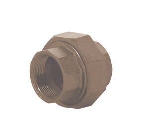 "TUN4F Dixon Brass Threaded Union - 1/2"" NPT Thread Adapter"
