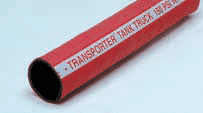 "17813040002 Thermoid 150 PSI 4"" ID Transporter Red Tank Truck Hose - 100ft"