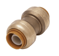 "U020 Dixon Forged Brass Sharkbite Push-Fit Fitting - Straight Coupling - 1"" x 1"" Tube Size"