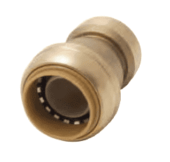 "U058 Dixon Forged Brass Sharkbite Push-Fit Fitting - Reducing Coupling - 3/4"" x 1/2"" Tube Size"