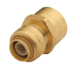 "U068 Dixon Forged Brass Sharkbite Push-Fit Fitting - Reducing Connector - 1/2"" Tube Size x 3/4"" Female NPT"