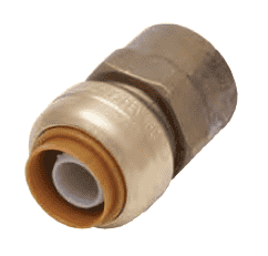 "U072 Dixon Forged Brass Sharkbite Push-Fit Fitting - Straight Connector - 1/2"" Tube Size x 1/2"" Female NPT"