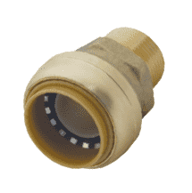 "U116 Dixon Forged Brass Sharkbite Push-Fit Fitting - Reducing Connector - 1/2"" Tube Size x 3/4"" Male NPT"