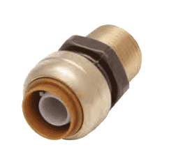 "U140 Dixon Forged Brass Sharkbite Push-Fit Fitting - Straight Connector - 1"" Tube Size x 1"" Male NPT"