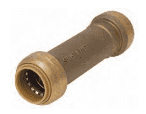 "U3008 Dixon Forged Brass Sharkbite Push-Fit Fitting Slip Coupling 1/2"" Tube Size"