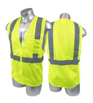 V1504 Malta Dynamics High Visibility Yellow Field Vest - 2XL