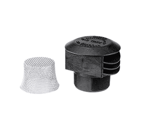 "VC230 Banjo Polypropylene 2"" Anti Vortex Vent Cap with 12 Mesh 304 SS Screen"