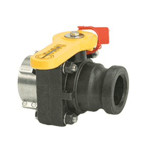 "VSF202MR Banjo Polypropylene IBC Bolted Ball Valve - 2"" Male QDC x V20283 Metal Collar w/Out Cap & Lanyard - Gasket: FKM (viton type) - Collar Fits: GRIEF®"