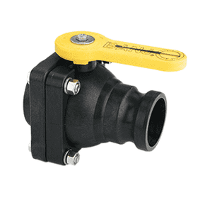 "VSF204FP Banjo Polypropylene 2"" Full Port Ball Valve ""Stubby Valve"" - 2"" Male Adapter x 2"" Female NPT - 2"" Opening Thru Ball - 100 PSI"