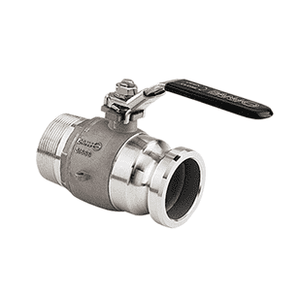 "VSFMT220SS Banjo Stainless Steel 2"" Manifold ""Stubby"" Valve - Full Port - 2"" Male Adapter x 2"" NPT - Opening Thru Ball: 2"" - 1000 PSI"