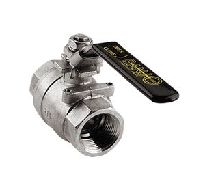 "VSS050 Banjo 316 Stainless Steel Two Piece Ball Valve - Full Port - 1/2"" Female NPT x 1/2"" Female NPT - 1/2"" Opening Thru Ball - 1000 PSI"