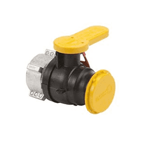 "W230234 Banjo IBC 2"" Polypropylene Spinweld Valve w/ QDC Outlet & Cap - Gasket: FKM (viton type) - Collar Fits: MAUSER® - Collar ID: 2-1/4"""