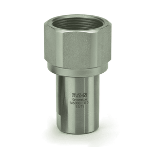 WV06257V0 Eaton W6000 Series Screw to Connect Female Socket 1-11 1/2 Female NPT FKM Quick Disconnect Coupling - Stainless Steel