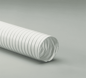 1.5-White-25 Flexaust White 1.5 inch Air, Fume, Dust, and Material Handling Duct Hose - 25ft