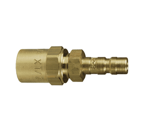 "A2E2-B Dixon Brass A-Series Quick Disconnect 1/4"" Astronautics High Pressure Pneumatic Nipple - Reusable Barb - 1/4"" Hose ID x 1/2"" OD"