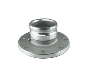 "A400A3F Jason Industrial 4"" Aluminum Flat Face Flange Coupling - Part A - Male Adapter x Flat Face Flange"