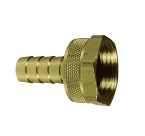 "5910812C Dixon Brass GHT Thread Fitting w/ Hex Nut - Machined Female w/ Swivel Nut - 1/2"" Hose Size (Old Part #: BCF74)"