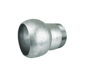 "BMT400 Jason Industrial 4"" Galvanized Steel Locking Lever Pump Coupling - Type B Industrial - Male Ball x Male NPT Thread"