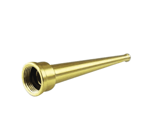 "BN125 Jason Industrial Straight Stream Brass Nozzle - 1-1/4"" Female NPSH - 3/8"" Tip Size - 9"" Length"