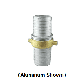 "BR400 Jason Industrial Brass Pin Lug Coupling - Complete Set (M x F) - 4"" NPSM Thread - with Brass Swivel"