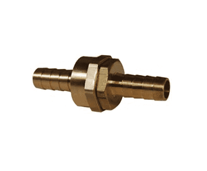 "BS406 Dixon Brass Short Shank Fitting - NPSM Thread - Complete Machined Coupling - 1/2"" ID"