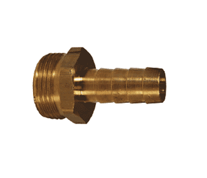 "BS416 Dixon Brass Short Shank Fitting - NPSM Thread - Machined Male - 1/2"" ID"