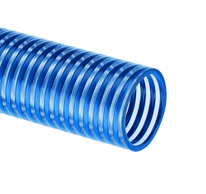 "BW125X100 Kuriyama Tigerflex BW Series Blue Water Low Temperature PVC Suction Hose - 1-1/4"" -100ft"