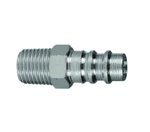 "CJ2M2-LG Dixon Steel CJ-Series Quick Disconnect 1/4"" European Interchange Pneumatic Nipple - 1/4""-18 Male NPT"