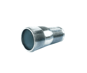 "CN150P Jason Industrial Plated Steel Combination Hose Nipple - 1-1/2"" Hose ID - Male NPT x Hose Shank"