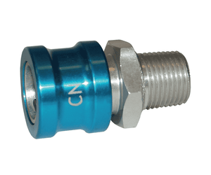"CN Dixon 1/2"" NPT Anodized Aluminum Flomax Standard Series Connector - Coolant Fluid Nozzle Ball Lock"