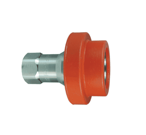 "D-4HF4-S-FSB Dixon 303 Stainless Steel H-Series Quick Disconnect 1/2"" ISO-B Food Grade Silicone Flanged Hydraulic Coupler - 1/2""-14 Female NPTF"